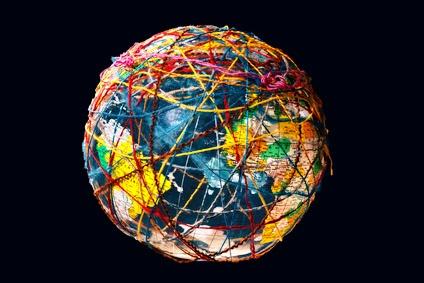 Die Netzwerkanalyse ermöglicht es die Handelsbeziehungen auf globaler Ebene darzustellen. (Quelle: © Ingo Bartussek / Fotolia.com)