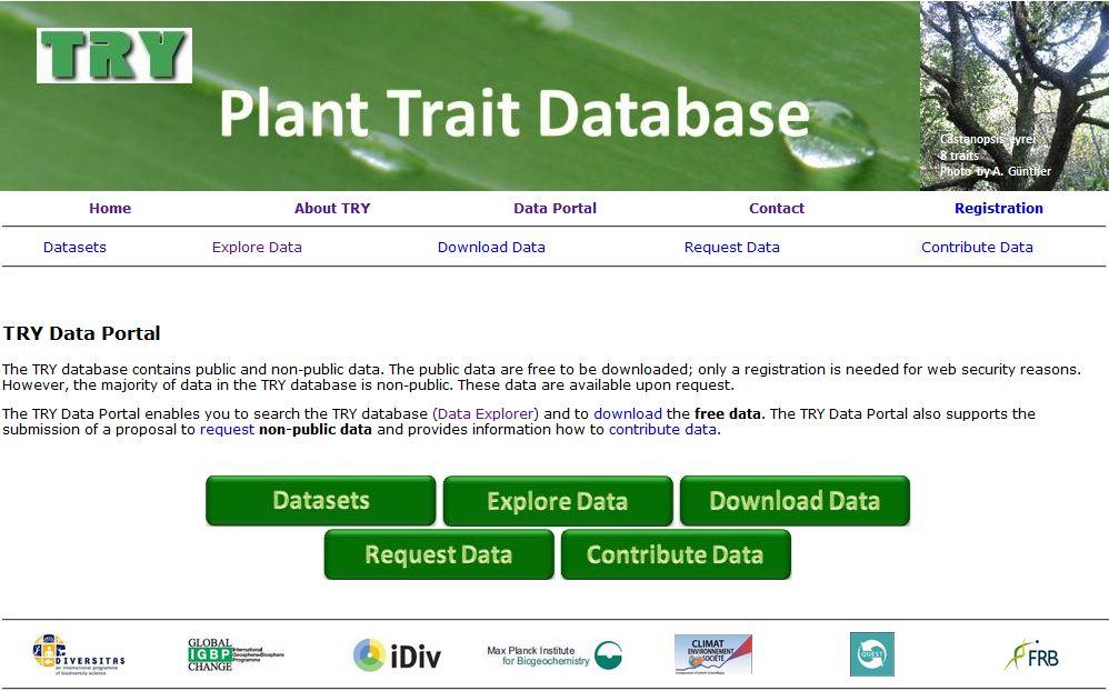 Die Datenbank TRY. (Quelle: © TRY/Max Planck Institute for Biogeochemistry)