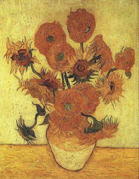 Varianten der Sonnenblume von Vincent van Gogh. (Quelle: © wikimedia.org; gemeinfrei)