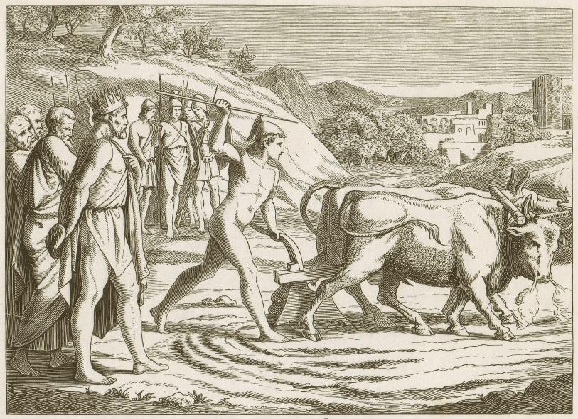 Vor etwa 12. 000 Jahren begannen die Menschen, Tiere und Pflanzen für ihr sesshaftes Leben zu zähmen und zu züchten.