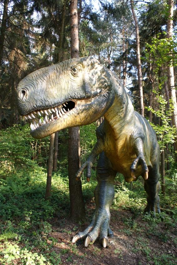 T-Rex wandelte seinerzeit nicht zwischen Nadelhölzern, Farnen und Schachtelhalmen. Zur Zeit der großen Dinosaurier entstanden auch die ersten, ursprünglichen Blütenpflanzen.