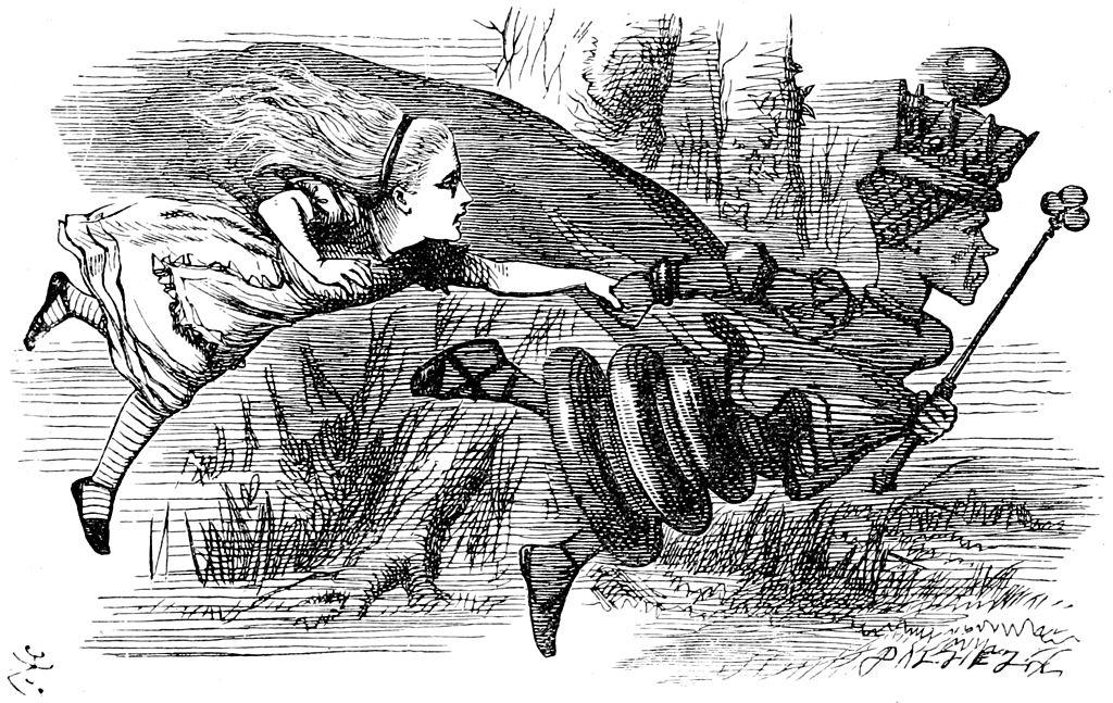 """Krankheitserrger und Pflanzen müssen sich ständig neu anpassen, um zu überleben. Dieser Wettlauf gegeneinander wird in Anlehnung an Lewis Carrolls Buch """"Alice hinter den Spiegeln"""" auch als """"Red-Queen-Dynamik"""" bezeichnet."""