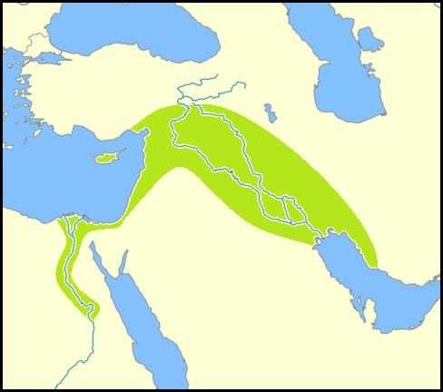 Die Gerste stammt aus dem sogenannten fruchtbaren Halbmond, der sich von Israel über Syrien und die Südosttürkei bis in den Nordirak und dem nördlichen Teil des Iran erstreckt. In manchen Definitionen wird auch der Norden Ägyptens mit dazu gezählt.