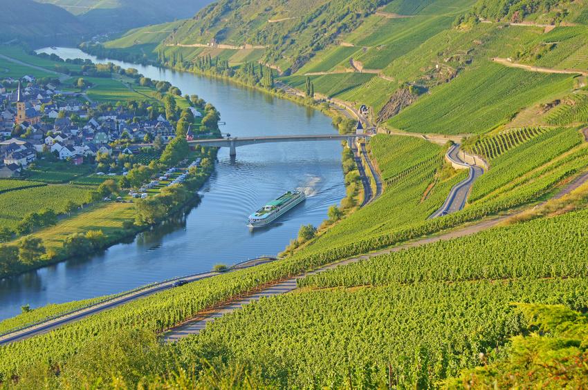 Deutschland gilt als eine der nördlichsten Weinanbauregionen weltweit. Der Anbau prägt eine ganz besondere Kulturlandschaft, denn Winzer bewirtschaften ihre Weinstöcke oft in steilen Lagen, wie hier an der Mosel.