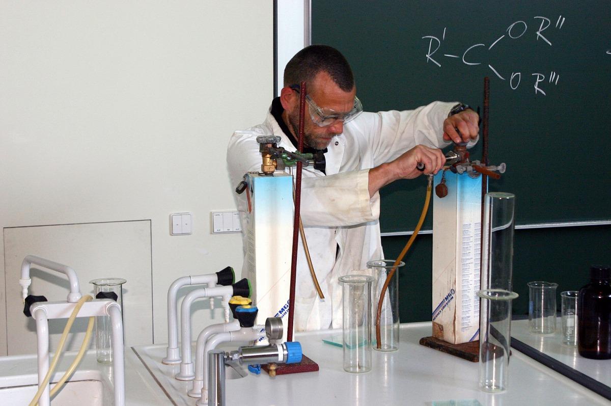 Chemie-Vorlesung, HU Berlin. (Quelle: © Heike Bachmann)