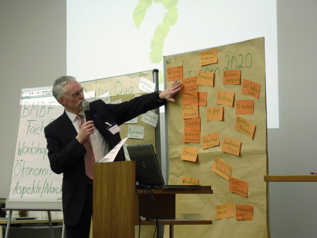 In drei Workshops erarbeiteten die Teilnehmer des Fachforums Visionen zur Lösung der globalen Ernährungs- und Gesundheitsprobleme.