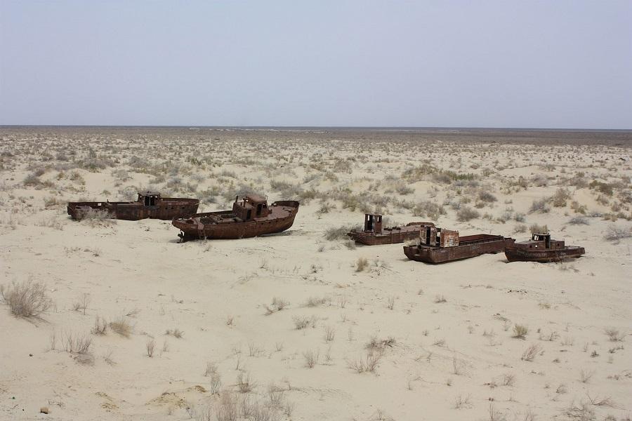 Die Gegend rund um den nahezu ausgetrockneten Aralsee ist einer Studie zufolge am stärksten von der Versalzung der Böden betroffen. (Bildquelle: © Arian Zwegers/ wikimedia.org/ CC BY 2.0)