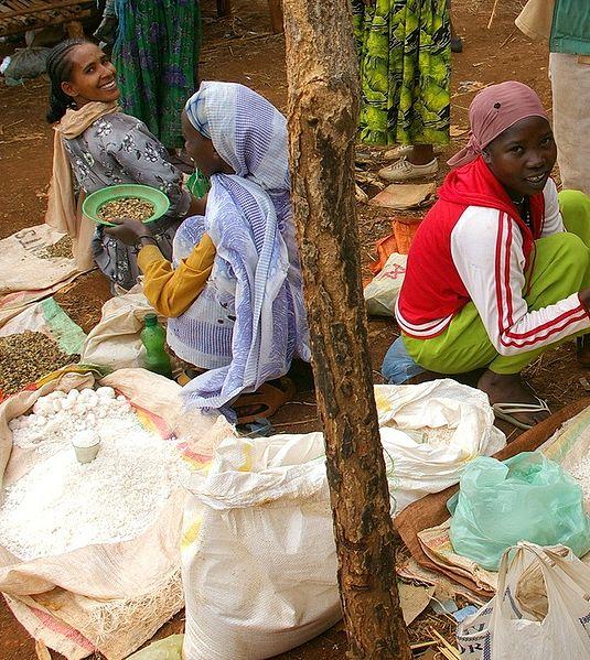 Im Durchschnitt müssen diese Frauen rund 60 km zurücklegen, um den nächstgelegenen Markt zu erreichen. Dass sie diesen Weg trotzdem mehrmals im Monat auf sich nehmen, zeugt von der Bedeutung des Handels.