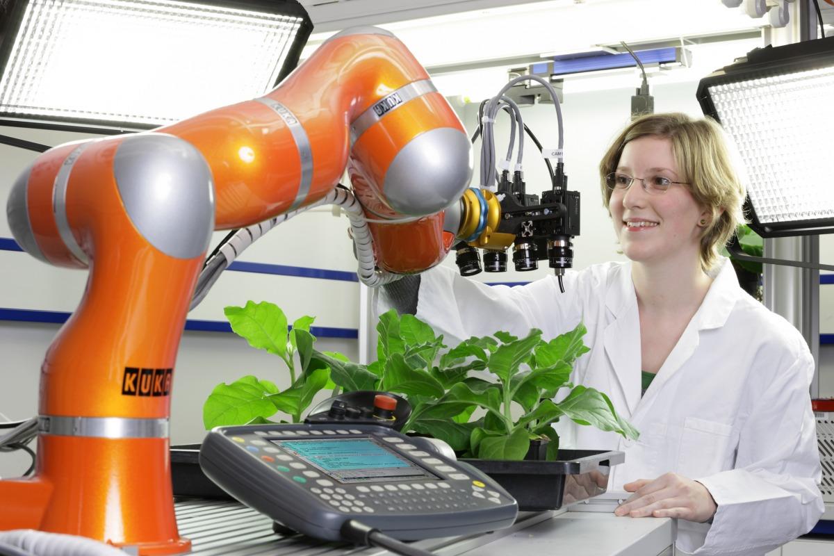 Mit neusten Methoden und hochmoderner Technik untersuchen die Wissenschaftler vom Institut für Pflanzenwissenschaften im Forschungszentrum Jülich den Phänotyp von Pflanzen.